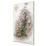 Map of Mauritius, illustration 'Paul et Virginie' Stretched Canvas Prints