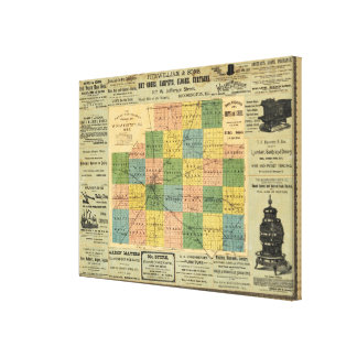 Map of McLean County, Illinois 1886 Canvas Print