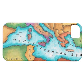 Map of Mediterranean Sea iPhone 5 Covers