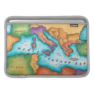 Map of Mediterranean Sea MacBook Sleeve