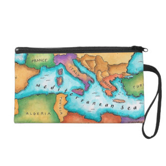 Map of Mediterranean Sea Wristlet