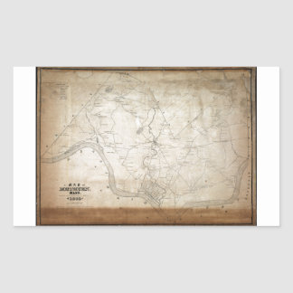 Map of Methuen Massachusetts in 1846 Rectangular Sticker