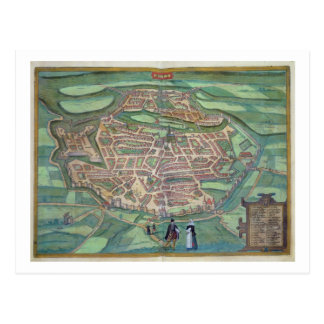 Map of Metz, from 'Civitates Orbis Terrarum' by Ge Post Cards