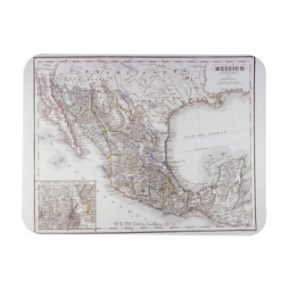 Map of Mexico 2 Rectangular Photo Magnet