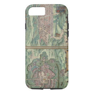 Map of Mexico and Cuzco, from 'Civitates Orbis Ter iPhone 8/7 Case