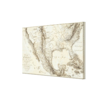 Map of Mexico and neighboring countries Canvas Print