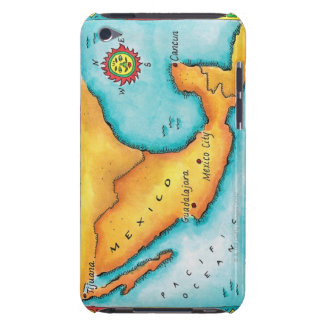 Map of Mexico Barely There iPod Case