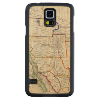 Map Of Mexico & California Carved Maple Galaxy S5 Case