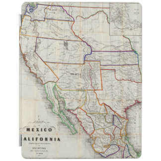 Map Of Mexico & California iPad Cover