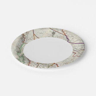 Map Of Mexico & California Paper Plate