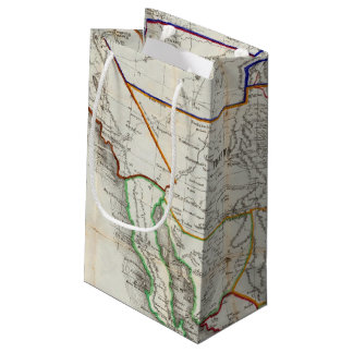 Map Of Mexico & California Small Gift Bag