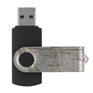Map Of Mexico & California USB Flash Drive