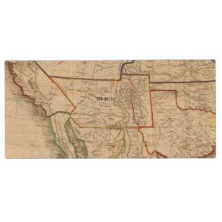 Map Of Mexico & California Wood USB Flash Drive