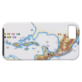 Map of Mexico, Central America and Caribbean Case For The iPhone 5