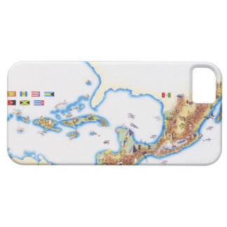 Map of Mexico, Central America and Caribbean iPhone 5 Covers