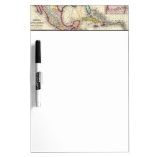 Map Of Mexico, Central America Dry Erase Board