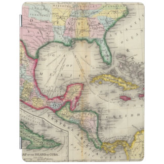 Map Of Mexico, Central America iPad Cover