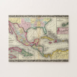 Map Of Mexico, Central America Jigsaw Puzzle