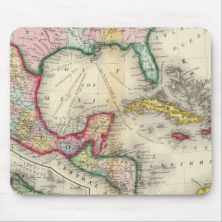 Map Of Mexico, Central America Mouse Mat
