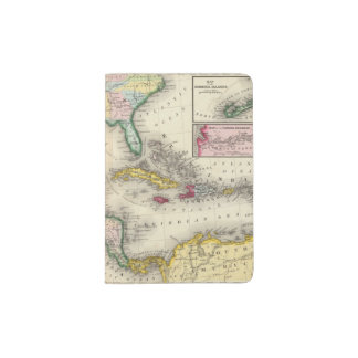 Map Of Mexico, Central America Passport Holder