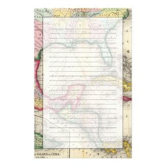 Map Of Mexico, Central America Personalized Stationery