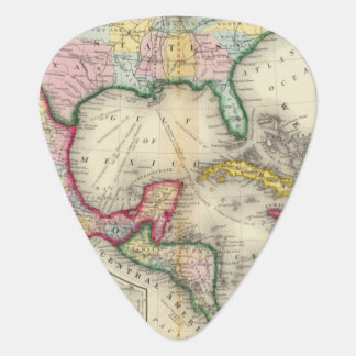 Map Of Mexico, Central America Plectrum