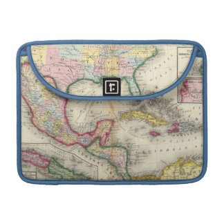 Map Of Mexico, Central America Sleeves For MacBook Pro