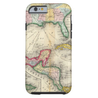 Map Of Mexico, Central America Tough iPhone 6 Case