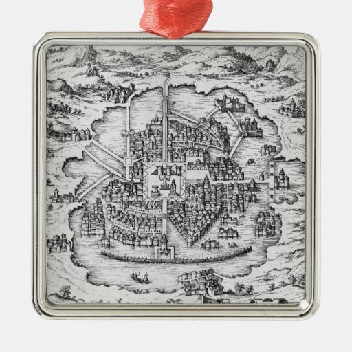 Map of Mexico Christmas Ornament
