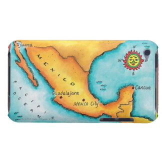 Map of Mexico iPod Touch Cases