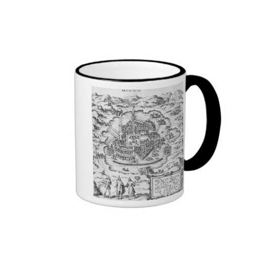 Map of Mexico Mugs