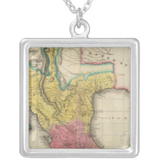 Map Of Mexico Silver Plated Necklace