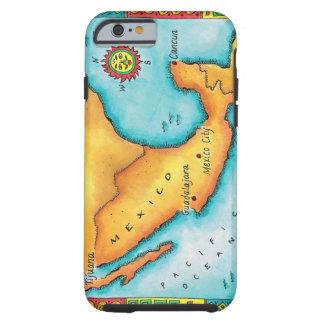 Map of Mexico Tough iPhone 6 Case