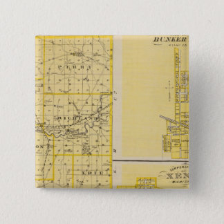Map of Miami County 15 Cm Square Badge