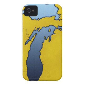 Map of Michigan 2 iPhone 4 Case