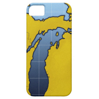 Map of Michigan 2 iPhone 5 Cover