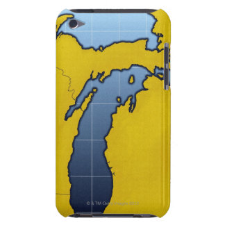 Map of Michigan 2 iPod Touch Covers