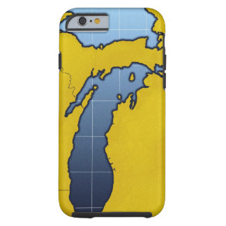 Map of Michigan 2 Tough iPhone 6 Case