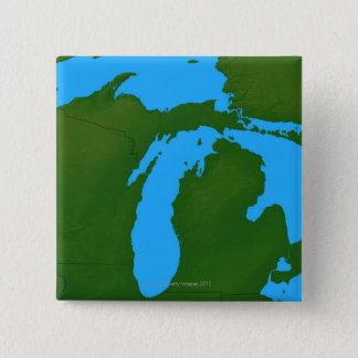 Map of Michigan 3 15 Cm Square Badge