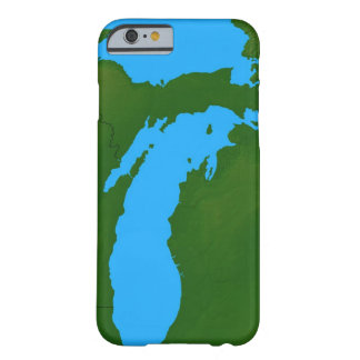 Map of Michigan 3 Barely There iPhone 6 Case