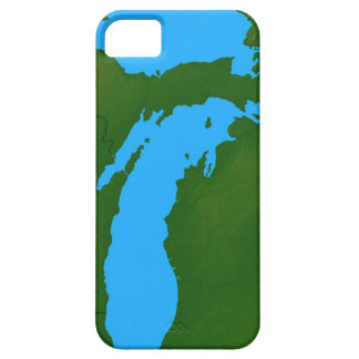 Map of Michigan 3 Case For The iPhone 5