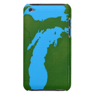 Map of Michigan 3 iPod Touch Cover