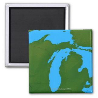Map of Michigan 3 Magnet