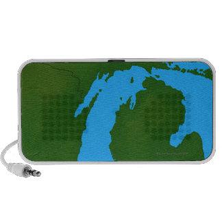 Map of Michigan 3 Travelling Speaker