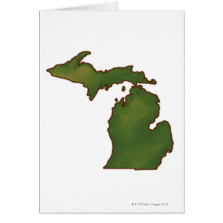 Map of Michigan 4 Card