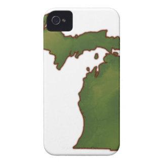 Map of Michigan 4 Case-Mate iPhone 4 Case