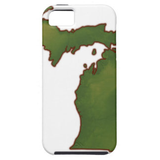 Map of Michigan 4 iPhone 5 Covers
