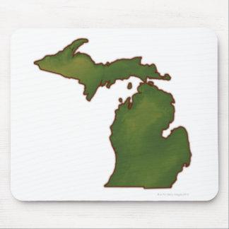 Map of Michigan 4 Mouse Mat