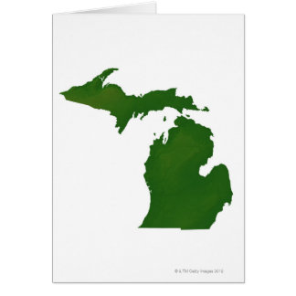 Map of Michigan Card