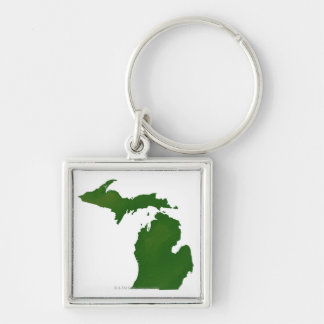 Map of Michigan Key Ring